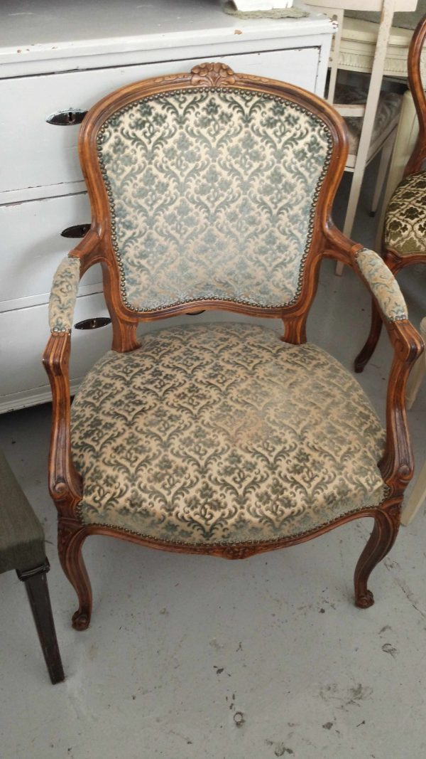 1900s Gustavian Round Back Carver Chairs