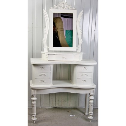 rare winged painted gustavian dressing table