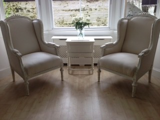 gustavian antique bergere armchairs