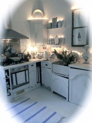 swedish white kitchen repainted in ecos paints