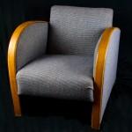 antique swedish art deco armchairs grey fabric