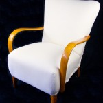 antique swedish wingback art deco armchairs