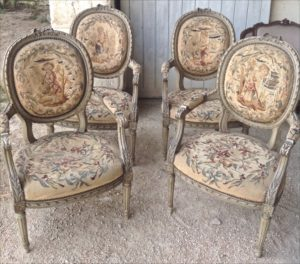 CC15 French 1800s Gustavian Carver Chairs - set of 4 - sold