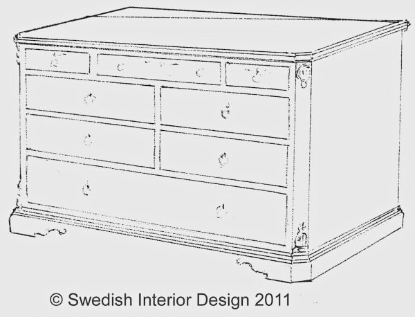8 drawer bespoke gustavian commode
