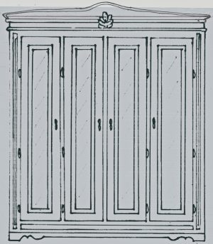 bespoke 4 door gustavian mirror armoire 2