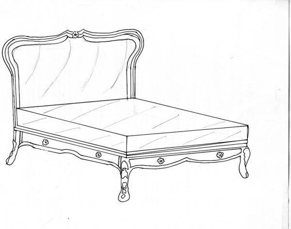 Bed 8 Upholstered headboard Bespoke bed