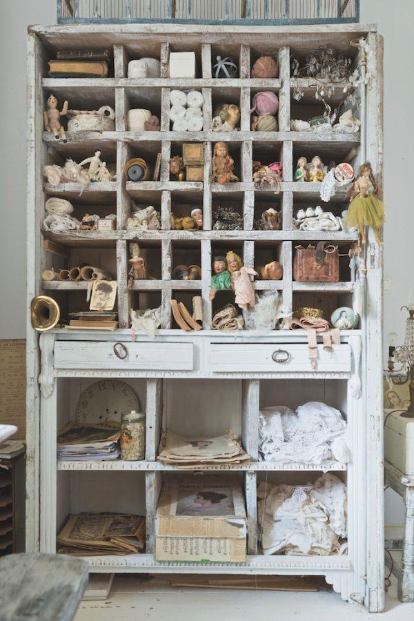 Cab 144 Antique Wood Box Dresser