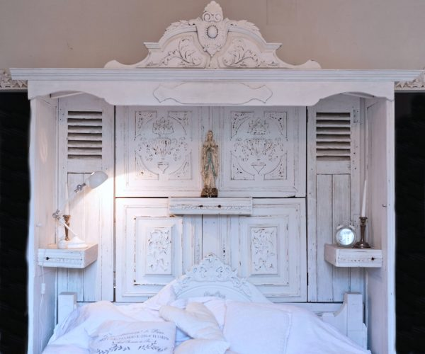 Bespoke Bed Canopy with Antique Carvings