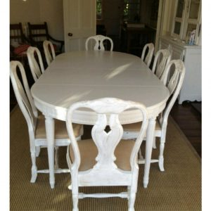 swedish gustavian dining table for sale setting