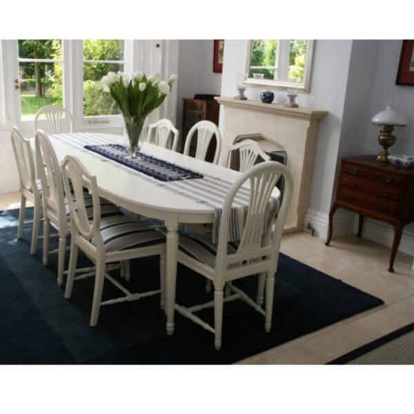 swedish gustavian dining table for sale 3