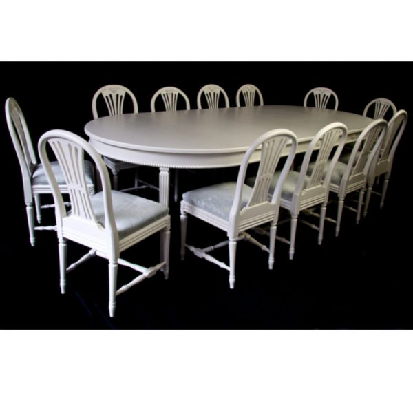 swedish gustavian dining table for sale spray