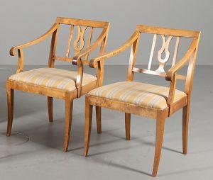 A CC17 Antique Biedermeier Carver Chairs