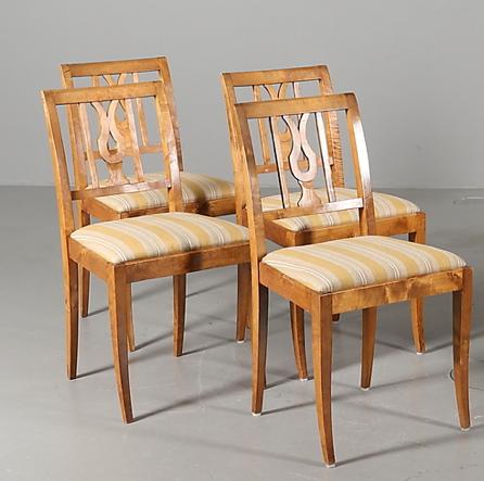 A CH 69 Antique Swedish Biedermeier Chairs