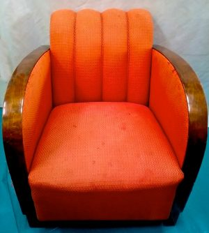 AR31 Antique Swedish Art Deco Armchairs