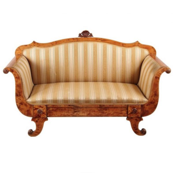 antique swedish biedermeier sofa 1