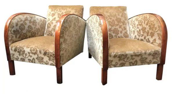ar42 swedish antique art deco armchairs