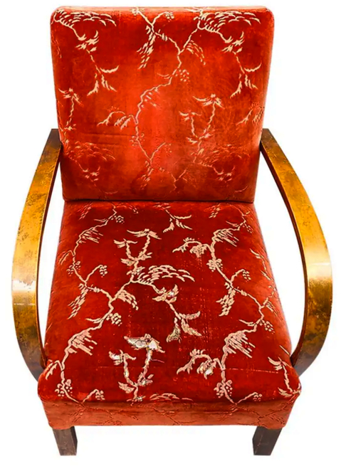 ar46 swedish antique art deco armchairs