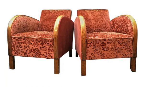 ar38 swedish antique art deco armchairs