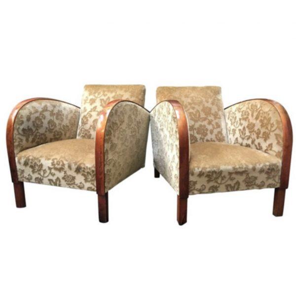 antique swedish art deco armchairs white
