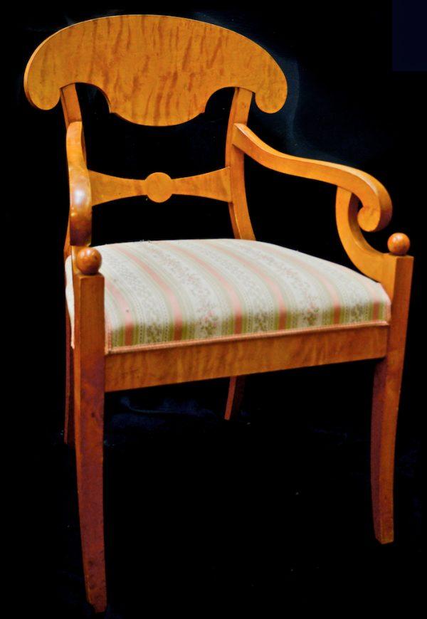 rare pair antique swedish biedermeier carver chairs 1