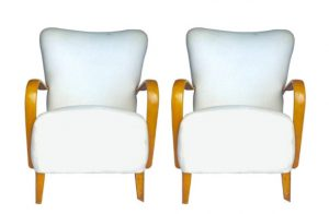 AR30 Art Deco Wingback Armchairs