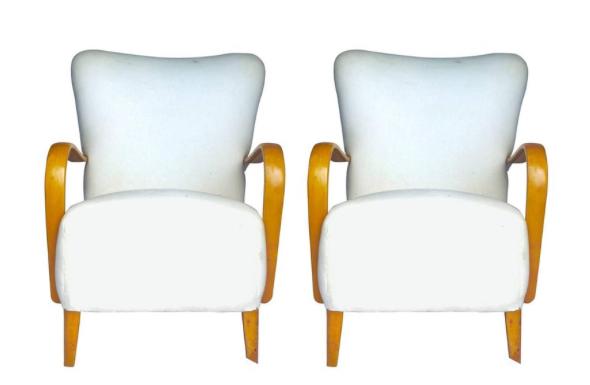 AR30 Art Deco Wingback Armchairs