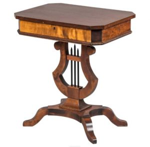 biedermeier antique lyre table