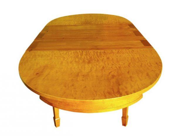 Art Deco Biedermeier Swedish Extendable Dining Table 256cm Golden Birch 10 seater Antique DGNT19