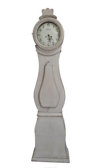 MC121 Swedish Grey Mora Clock Grey Antique Fryksdall early 1800s