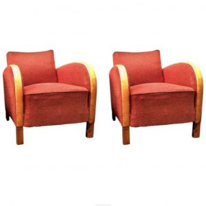 antique swedish art deco armchairs pair