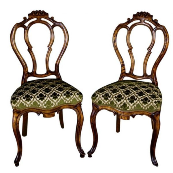 antique gustavian rococo swedish dining chairs 3