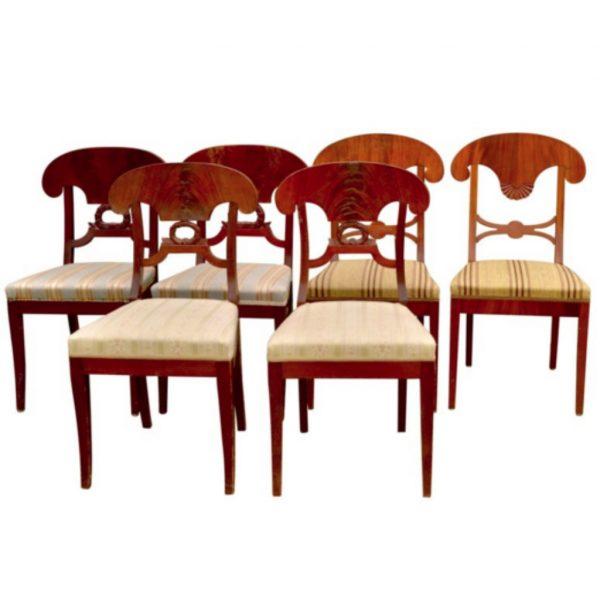 antique biedermeier swedish dining chairs 2