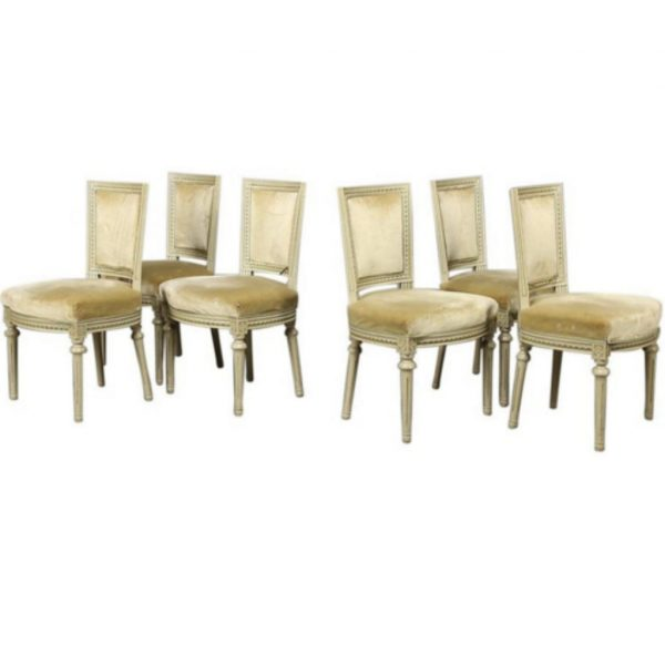 antique gustavian padded back swedish dining chairs 2