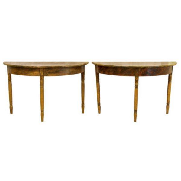antique gustavian swedish demi lune table kurbits