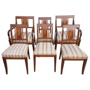 antique biedermeier art deco swedish dining chairs 1