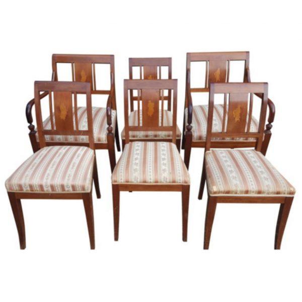 antique biedermeier art deco swedish dining chairs 1