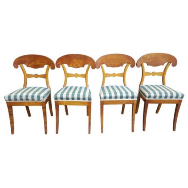 antique biedermeier swedish dining chairs 1