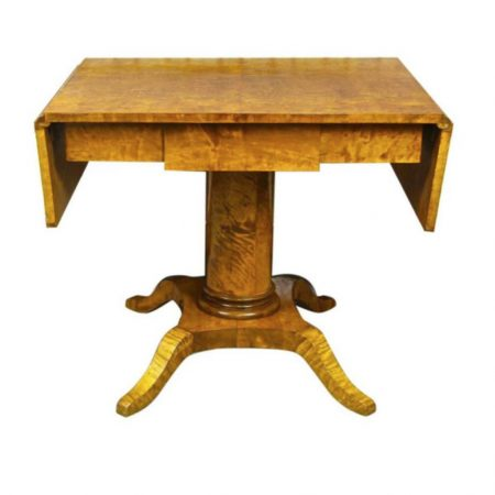 antique swedish biedermeier dropleaf table