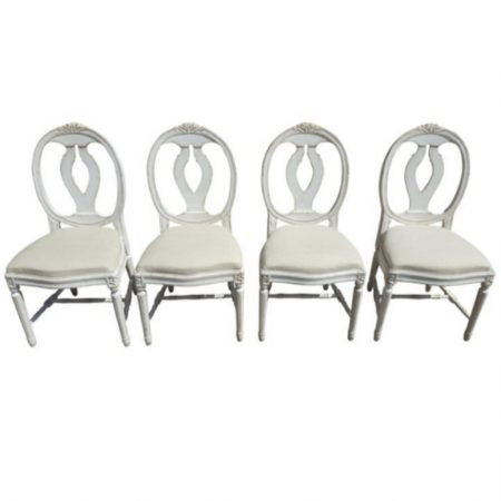 gustavian antique roseback chairs