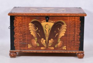 1800s blanket box chest swedish antique folkj art kurbits fax wood grain