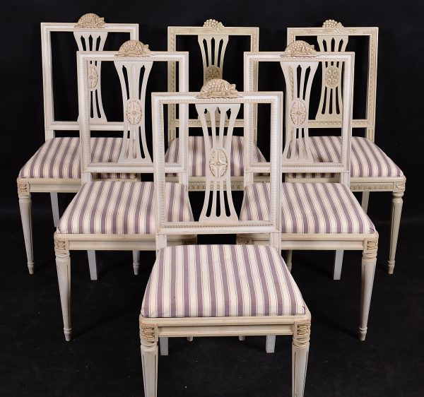 1900s lindome swedish gustavian dining chairs set of 6