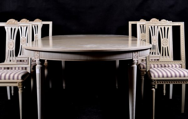 1900s swedish gustavian 250cm dining table