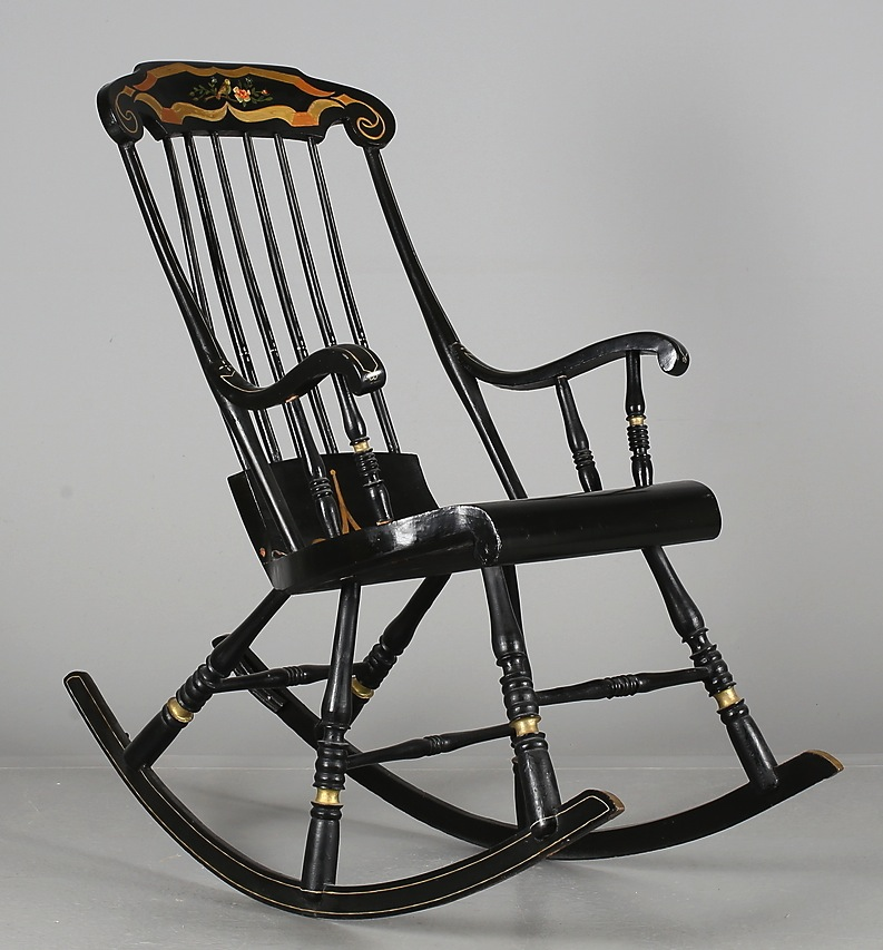 swedish antique gungstol rocking chair 1800s for sale