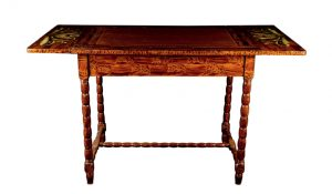 kurbits fiolk art swedish antique drop leaf table
