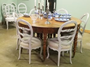 13 2 gustavian dining chairs