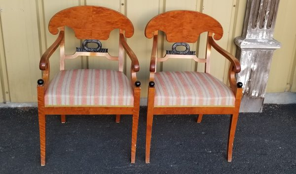 CC11 biedermeier carver chairs swedish antique