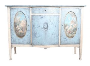 1920s gustavian blue angel drawers commode