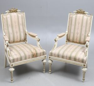 AR48 armchairs swedish gusravian antique fauteuils bergeres
