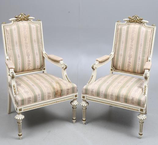 AR48 armchairs swedish gusravian antique fauteuils bergeres