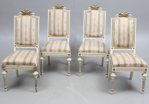 ch72 gustravian antique dining chairs